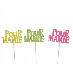 MAMIE - Pique Pour Mamie Assortis D8 x H50 cm par 12