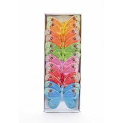 Papillons 10 cm Couleurs Assorties par 12