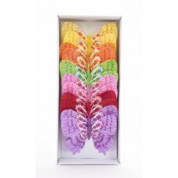 Papillons sur Tige Assortis D12 cm par 12