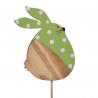 Pique Lapin Pois Vert D9 x H10 cm par 10
