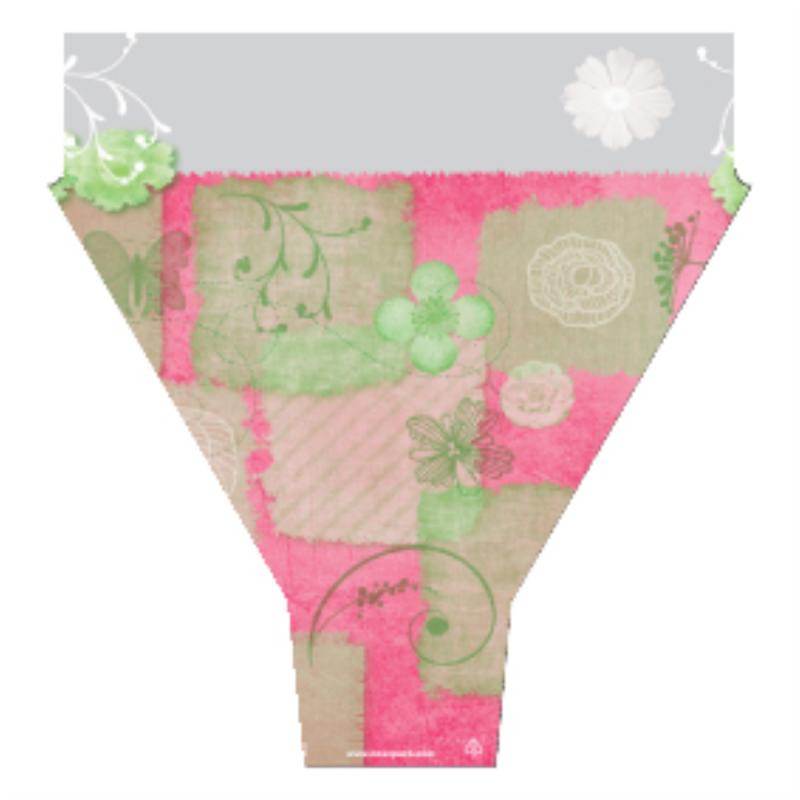 Cone 50x54x15 Garden Rose Vert par 50
