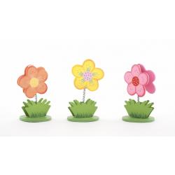 Fleur Porte Nom Assortis H6.5 cm par 6