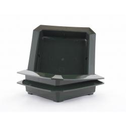 Bac Carré PVC Vert 260x260x50mm par 3