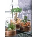 CHARLES - Vase Verre avec Support D16 x H28 cm
