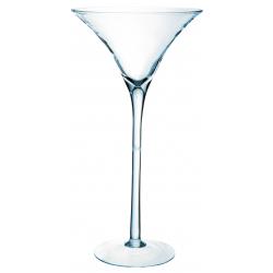 MARTINI 50 - Vase Martini en Verre hauteur 50cm