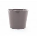 Cache-pot d 17.2 h 15 cm Gris par 4