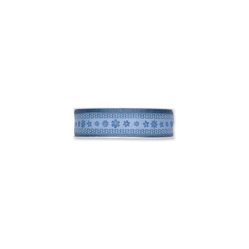 "Ruban Tissu ""Blossoms"" 25mmx15m Bleu"