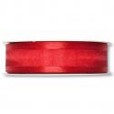 Ruban Organza/Satin 25mm x 25 m Rouge