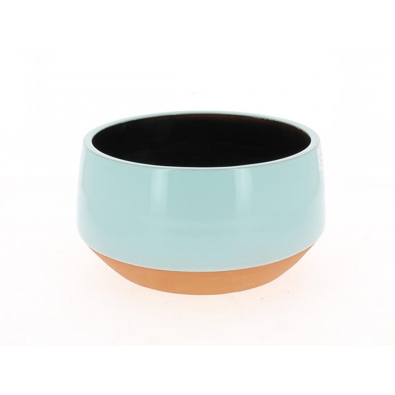 ALVAR - Coupe Céramique Conique Turquoise D25 x H12 cm