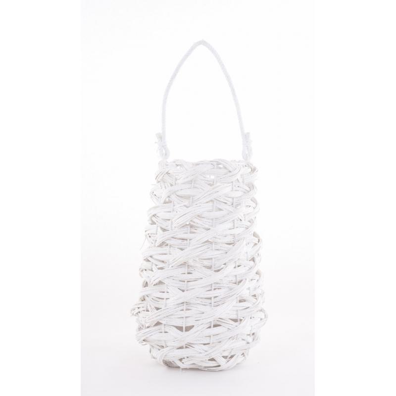 LUZ - Lanterne avec Vase Verre D15 x H35 cm