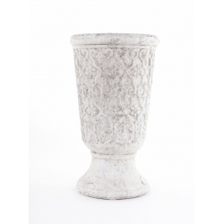 WADI - Pot Médicis Céramique Blanc D14,5 x H26 cm