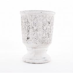 WADI - Pot Médicis Céramique Blanc D14 x H19,5 cm