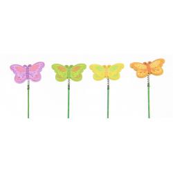FLY - Pique Papillon Bois Assortis D8 x H28 cm par 12