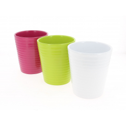ARNO - Cache Pot Céramique Assortis D13,5 x H15,5 cm par 9