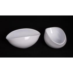 Coupe Ovale Blanche 25 x 12 h 12 cm par 2