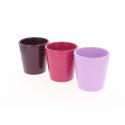 ARNO - Cache Pot Céramique Assortis D11 x H11 cm par 12