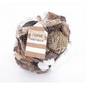 NOHA - Bouteille Verre Coquillages Variés et Sable H21 cm