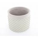 SIMA - Cache Pot Ciment et Vert D18 x H15 cm