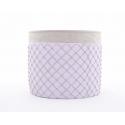 SIMA - Cache Pot Ciment et Lilas D18 x H15 cm