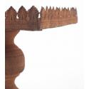 POKAL - Plateau sur Pied et Cage Rouillé L20/16 x H65/48 cm Set de 2
