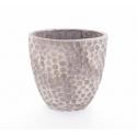 BONDO - Vase Ciment Alvéoles Brun L25 x P14 x H26 cm