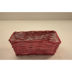 Corbeille rectangle 25x14 H9 Rose