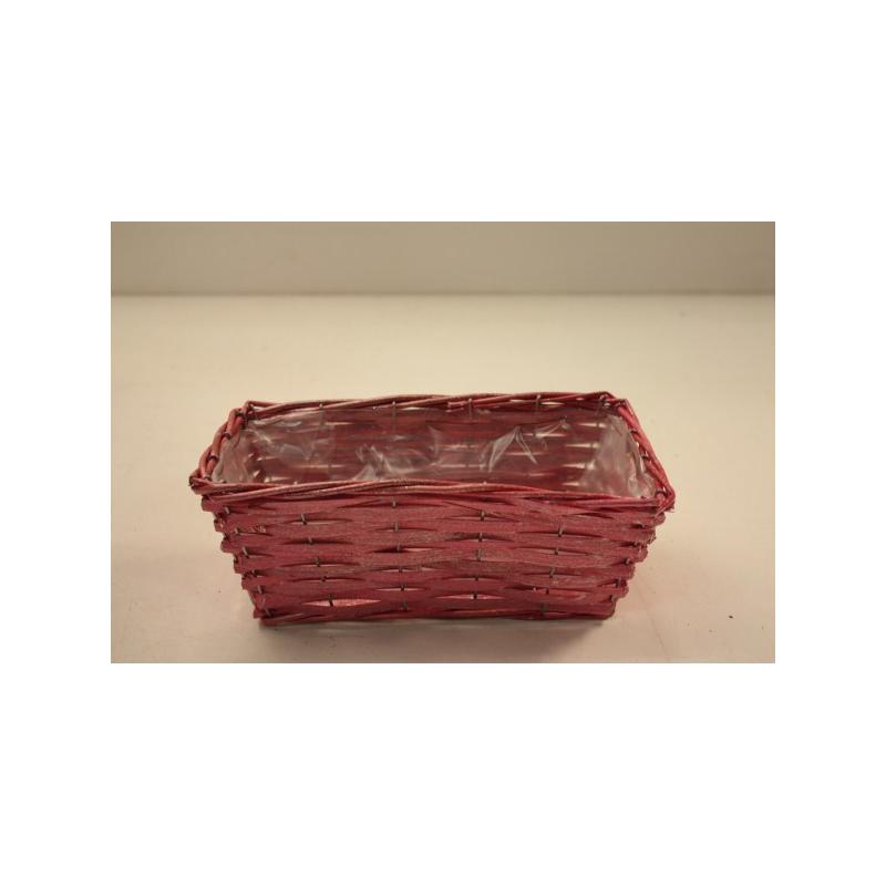 Corbeille carrée 29x29 H9 Rose