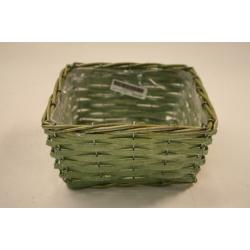 Corbeille carrée 29x29 H9 Vert