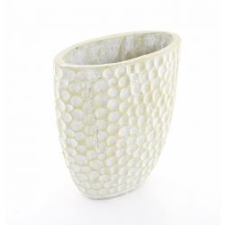 BONDO - Vase Ciment Alvéoles Vert L25 x P14 x H26 cm