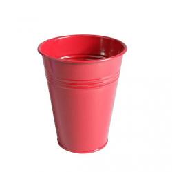 LILY - Pot zinc Muguet D6.2 x H12.2 cm par 20 Rouge