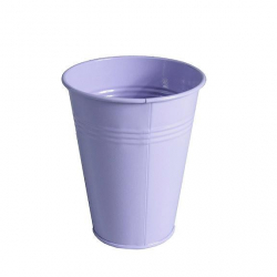LILY - Pot zinc Muguet D6.2 x H12.2 cm par 20 Lilas