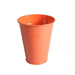Pot zinc Muguet d6.2 h12.2 cm Orange  par 20
