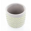 SIMA - Cache Pot Ciment et Vert D14,5 x H13 cm