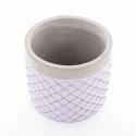SIMA - Cache Pot Ciment et Lilas D14,5 x H13 cm