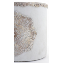 MANDA - Cache Pot Ciment Brut et Rosace D1,8,5 x H16 cm