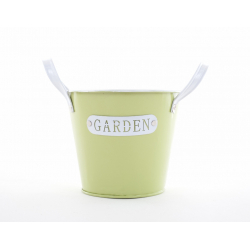 GARDEN - Seau Zinc Vert avec Anses D12 x H10 cm
