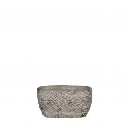 ALMA - Jardinière Céramique Gris Clair L14,5 x P9 x H8 cm