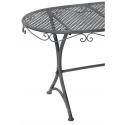 CASSIS - Table Ovale Fer Grise L79 x P44 x H45 cm