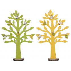 TREE - Arbre Bois Déco Jaune Vert Assorti L25,5 x H88,5cm par 2