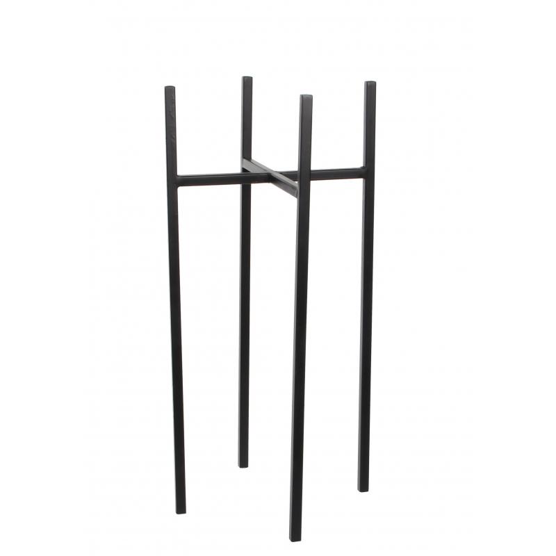 ASCOT - Support Fer Noir pour Pot D24 x H55 cm