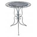 CASSIS - Table Fer Grise D60 x H70 cm