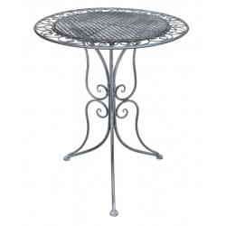 CASSIS - Table Fer Grise D60 x H70 cm