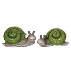 TIGU - Escargot Céramique Assorti L19 x P11,5 x H10 cm par 2