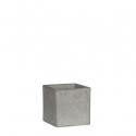 Pot carré céram Jimmy gris clair 10x10