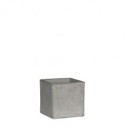 JIMMY - Pot carré céramique 10 x 10cm gris clair