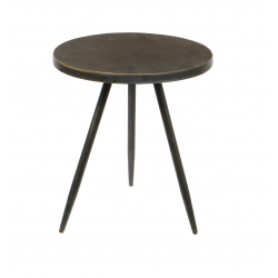 EVY - Table Ronde Fer Bronze D35 x H40 cm
