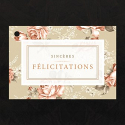 Carte Jeso Bilitis Sincères Félicitations par 10