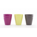 Cache Pot Céramique Muguet Assortis D9.6 x H 11 cm par 12