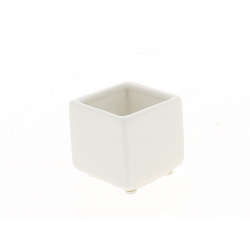 KERN - Pot Carré Céramique Blanc L6 x H6 cm Part 12