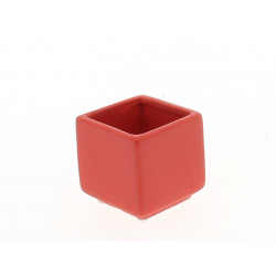 KERN - Pot Carré Céramique Rouge L6 x H6 cm Part 12